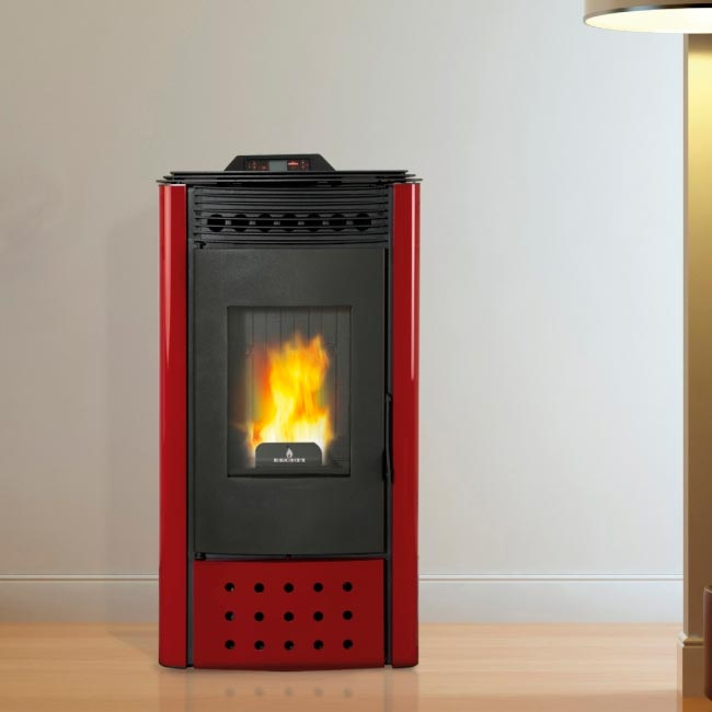 Elisa estufa a pellet con aire canalizable for Cocinas economicas pellets