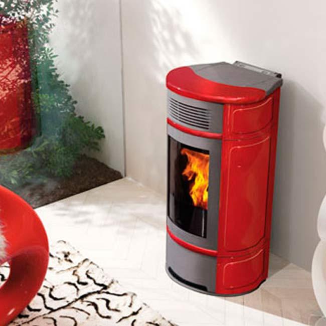 Vintage estufa a pellet con aire canalizable for Cocinas economicas pellets