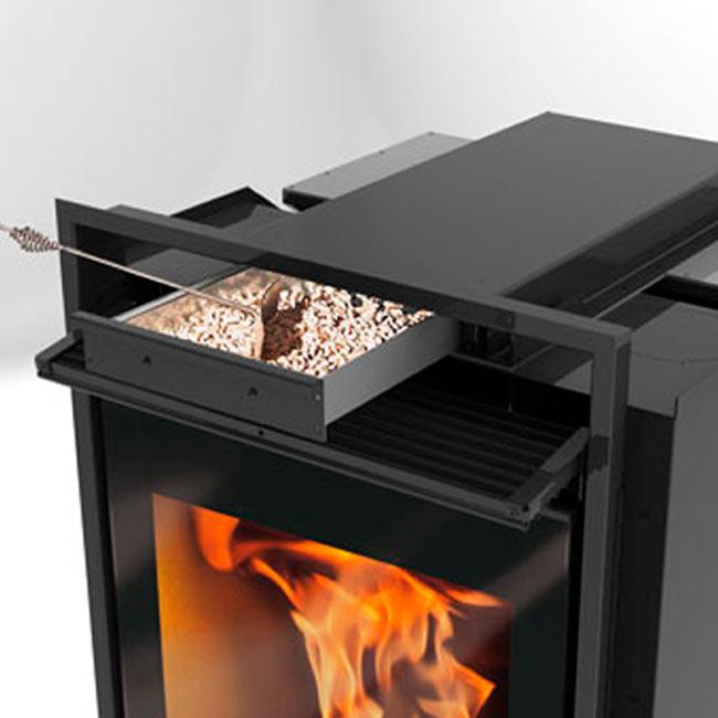 Chimeneas vaquer estufas chimeneas y hornos for Estufa pellets con horno