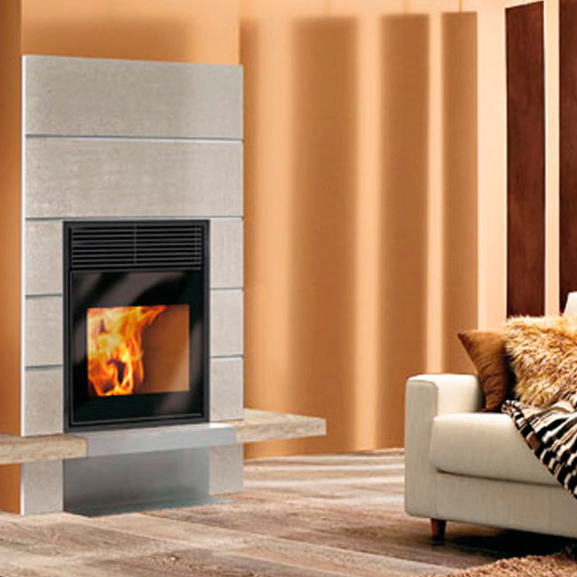 Pell blok chimenea insertable a pellet for Chimenea de pellets insertables