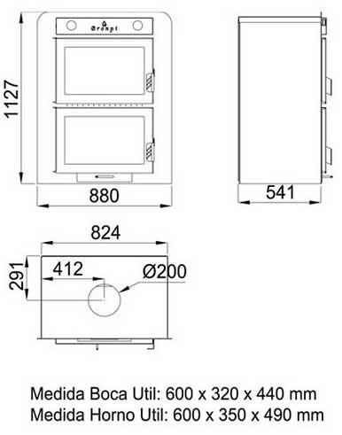 Hornos empotrables medidas hydraulic actuators for Medidas de hornos electricos