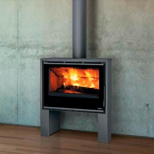 Ares estufa de acero moderna estufas y chimeneas for Estufas a lena modernas
