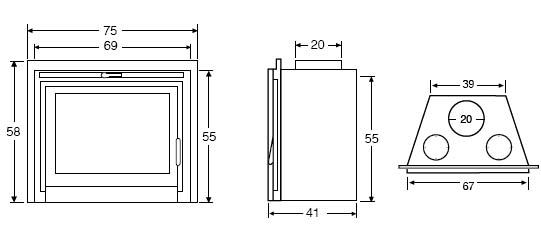 Stylo chimenea insertable panor mica - Chimeneas grandes dimensiones ...