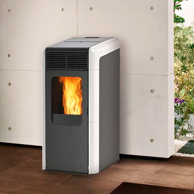 Bora estufa a pellet con aire canalizable for Cocinas economicas pellets