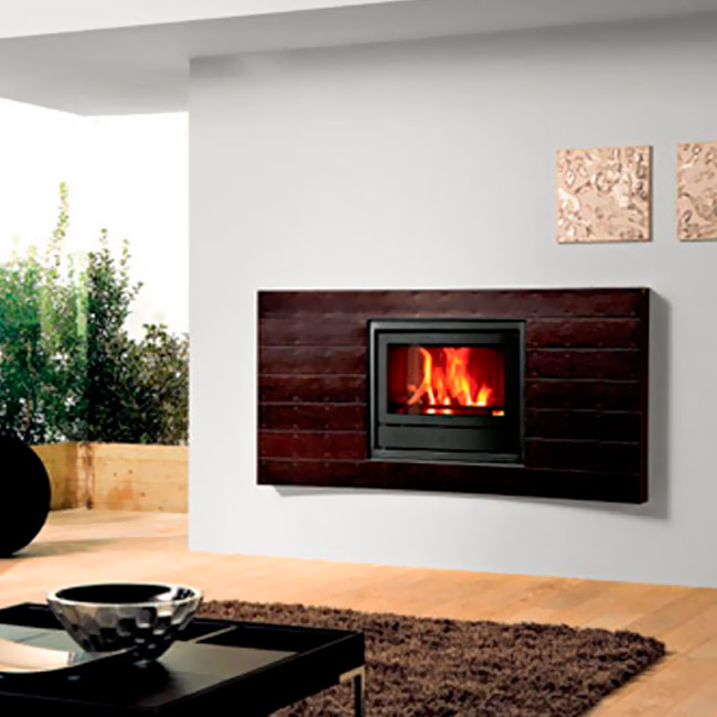 Wood revestimiento para chimeneas - Revestimiento de chimeneas modernas ...