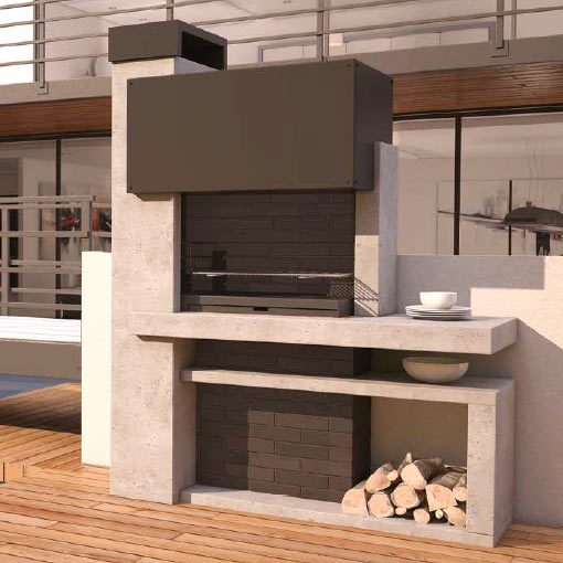 Barbacoa jard n milano chimeneas vaquer for Barbacoas de interior