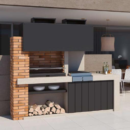 Barbacoa de dise o barcelona chimeneas vaquer for Barbacoas de interior