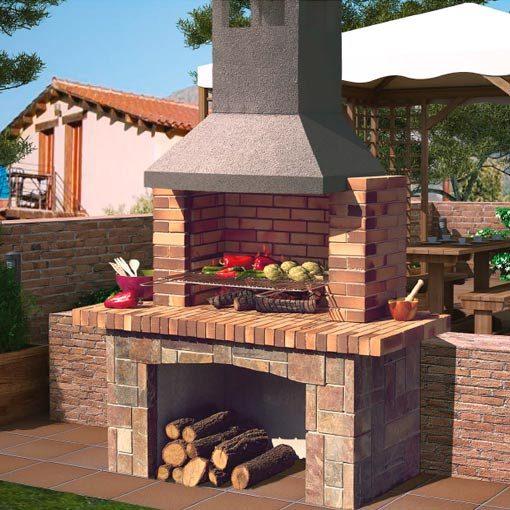 Barbacoa de piedra para le a garrigues chimeneas vaquer for Barbacoas de piedra para jardin