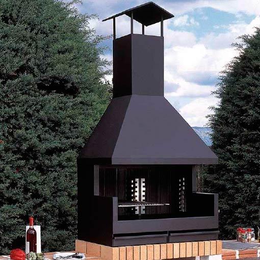 Barbacoa met lica de exterior fornells chimeneas vaquer - Barbacoa exterior ...