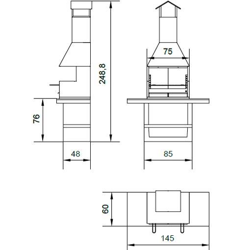 Planos y medidas de barbacoas de obra elegant medidas - Medidas de barbacoas ...